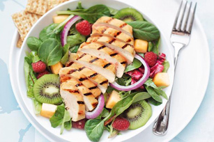 Grilled Chicken and Fruit Salad Recipe