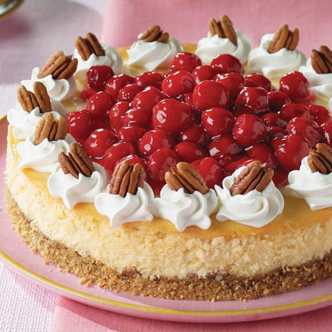 White Chocolate Cherry Pecan Cheesecake Recipe