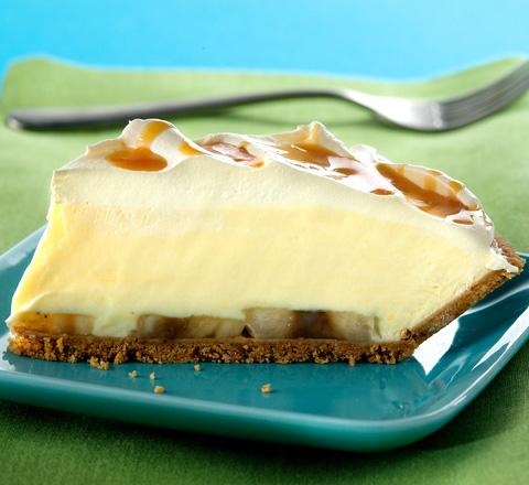 Banana Cream Pie with Caramel Drizzle Recipe