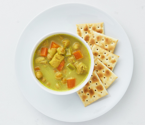 Chicken Curry Soup with PREMIUM Saltine Crackers Recipe