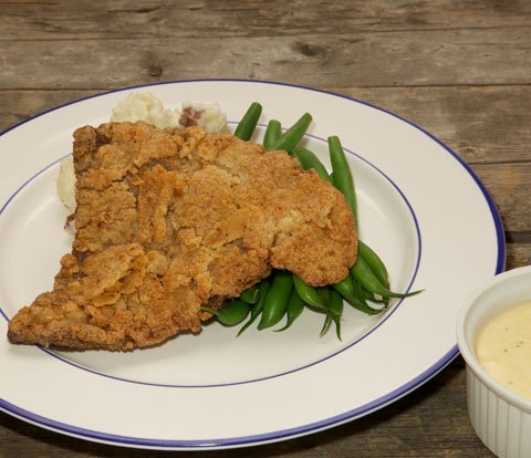 Chicken Fried Steak made with RITZ Crackers Recipe