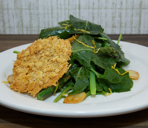 Kale Salad with RITZ Crackers Parmesan Crisp Recipe