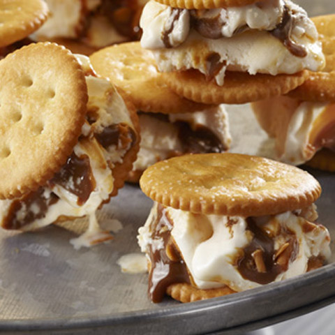 RITZ Salted Caramel Ice Cream Sandwiches Recipe