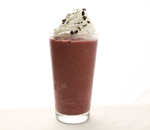Strawberries & Cream Blended Ice with OREO Cookie Pieces Recipe