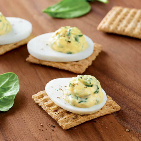 Creamy Spinach-Egg Toppers Recipe