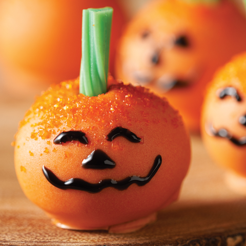 OREO Jack-o'-Lantern Cookie Balls Recipe