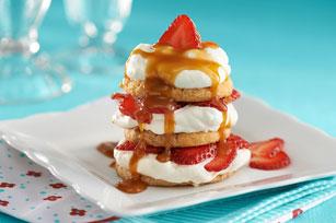 Sablé aux fraises et caramel recette