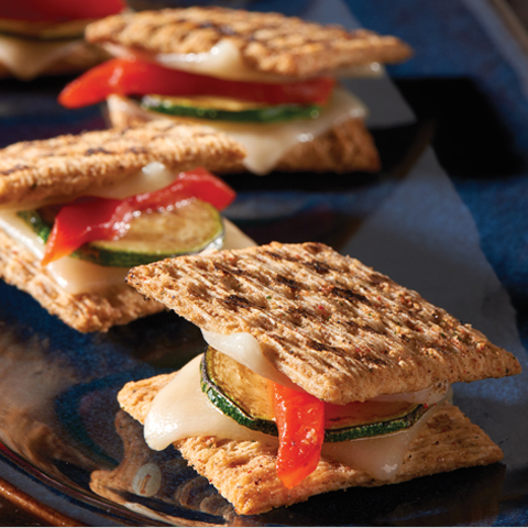 "TRISCUIT Grilled Vegetable ""Paninis"" Recipe"
