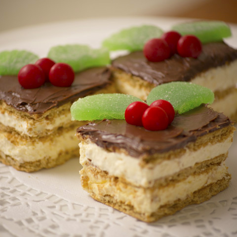 HONEY MAID Festive Eclair Squares Recipe
