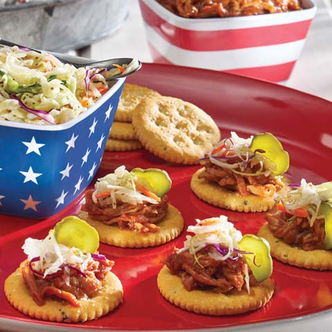 RITZ Pulled Pork Snackers Recipe