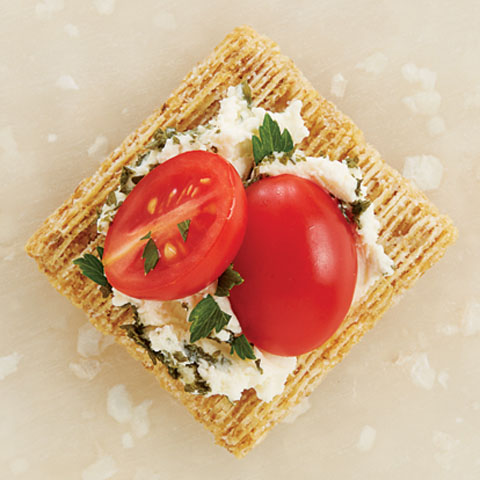 Herb Cheese & Tomato TRISCUIT Toppers Recipe