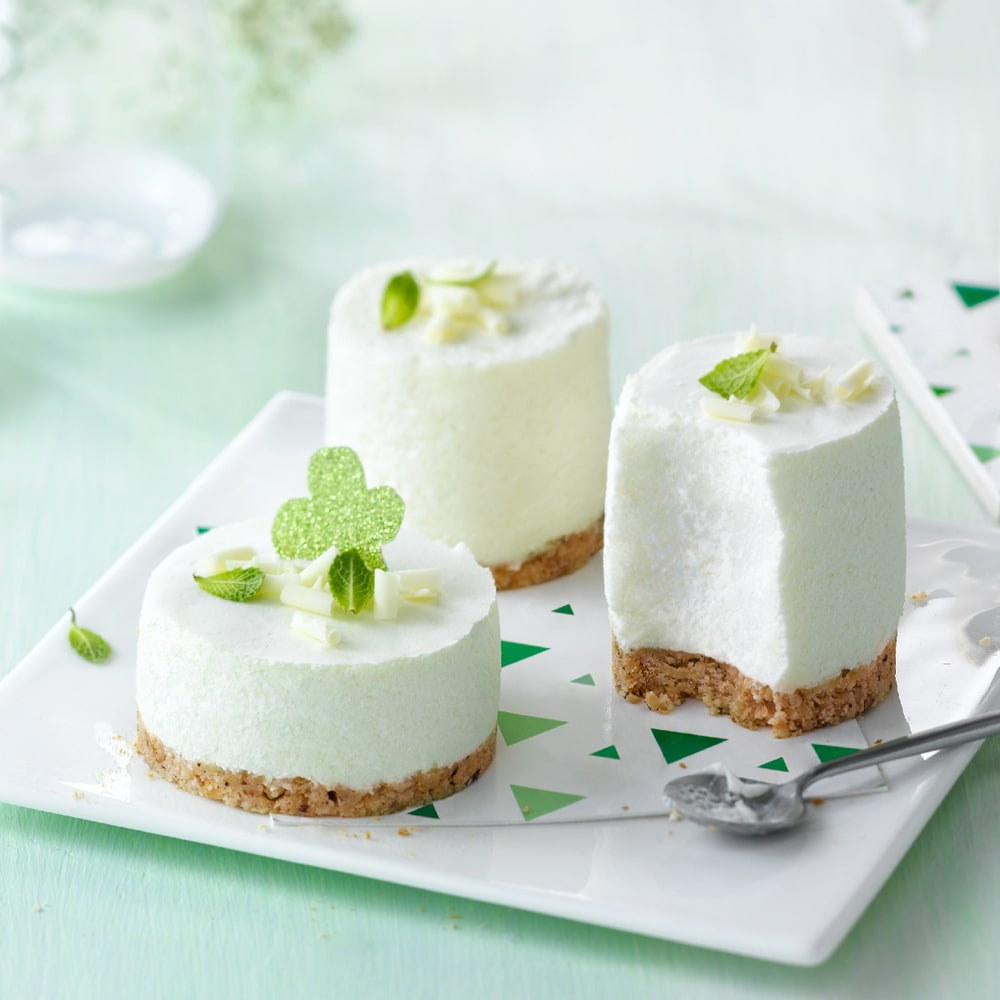 Philadelphia Recipe Mint White Choc Cheesecake