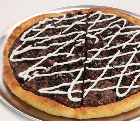 Brownie Pizza Made with OREO Cookie Pieces Recipe