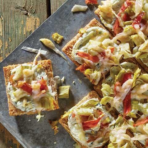 """Artichoke & Prosciutto Pull-Apart """"Pizza"""" Recipe"""