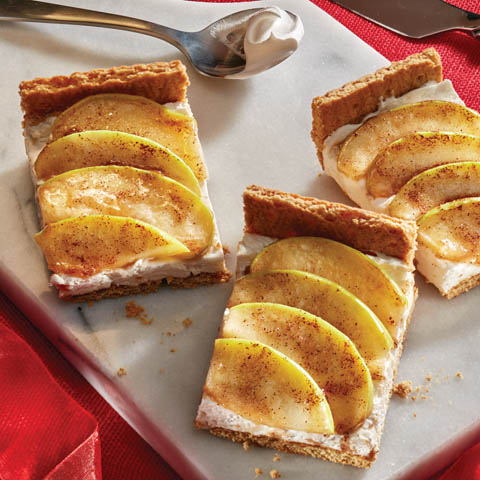 Toffee Apple Cheesecake Bars Recipe