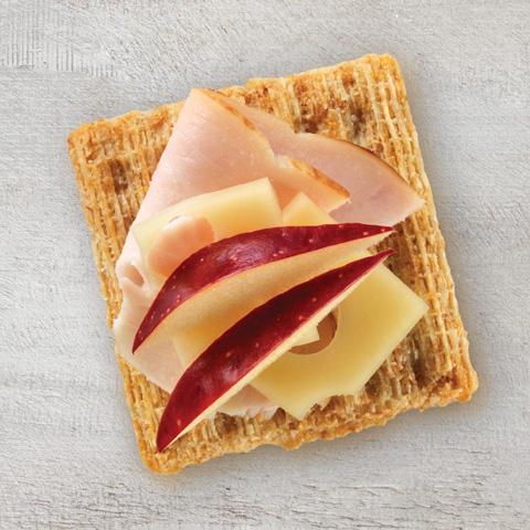 Suissepommedindescuit (fromage suisse+pomme+dinde) recette