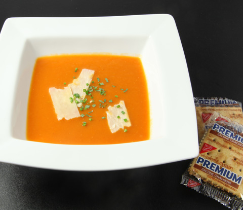 Roasted Tomato Soup with PREMIUM Saltine Whole Grain Crackers Recipe