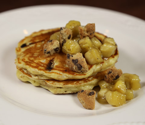 Banana Pancakes made with Mini CHIPS AHOY! Cookies Recipe