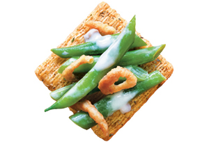 TRISCUIT Holiday Green Bean Topper Recipe