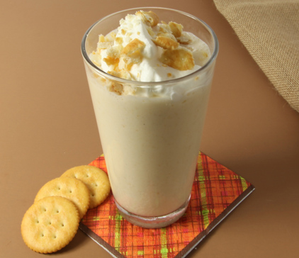 Mock Apple Pie Milkshake made with RITZ Crackers Recipe