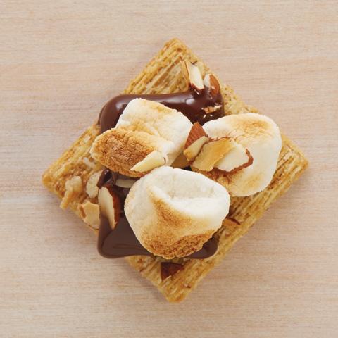 Chocoguimamanscuit (chocolat+guimauves+amandes) recette