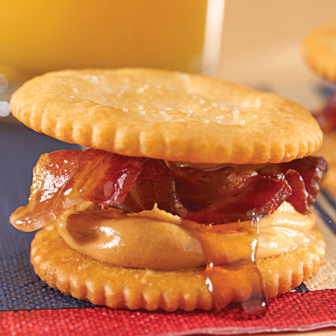Peanut Butter, Bacon & Maple Syrup RITZwich Recipe
