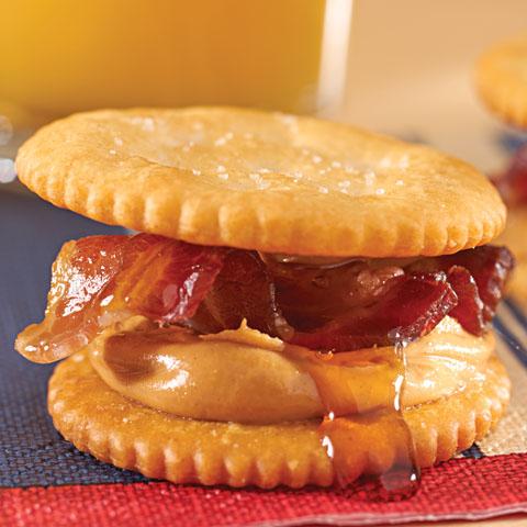 Peanut Butter, Bacon & Maple Syrup RITZwich Recipe