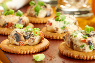 Three Cheese-Mushroom Puffs Recipe