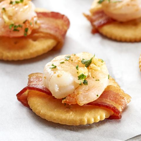 RITZ au bacon et aux crevettes Recipe
