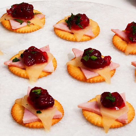 RITZ Ham, Cheese & Cranberry Topper Recipe