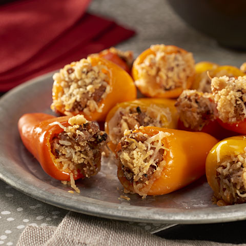 Spicy Stuffed Mini Pepper Bites Recipe