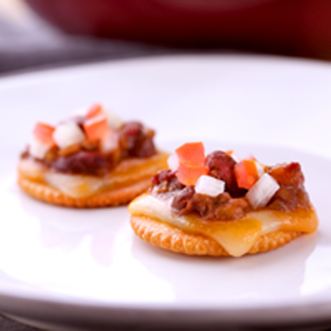 Chili-Cheese on a RITZ Recipe