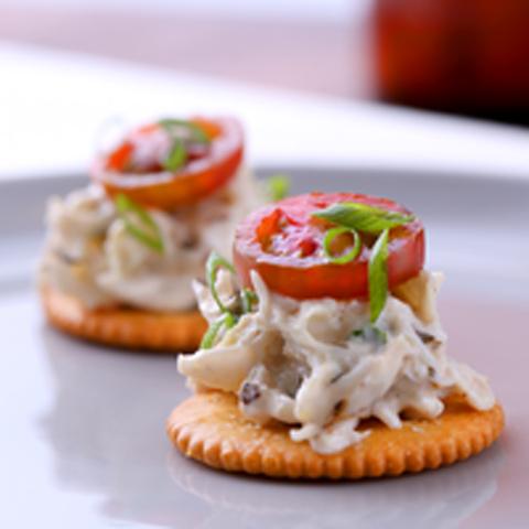 RITZ Cajun Crab Salad Topper Recipe