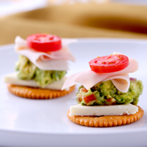 Cheesy Turkey & Guacamole Topper Recipe