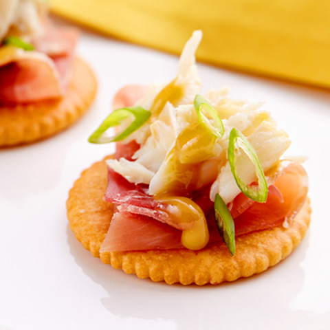 RITZ Crab & Prosciutto Topper Recipe