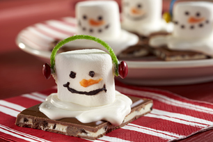 OREO Chocolate Candy Bar Melting Snowmen Recipe