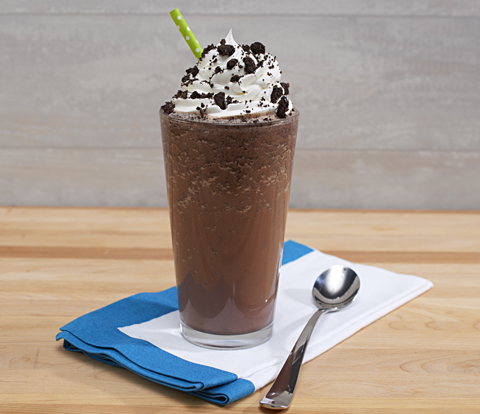 Frozen Hot Chocolate made with OREO Cookie Pieces Recipe