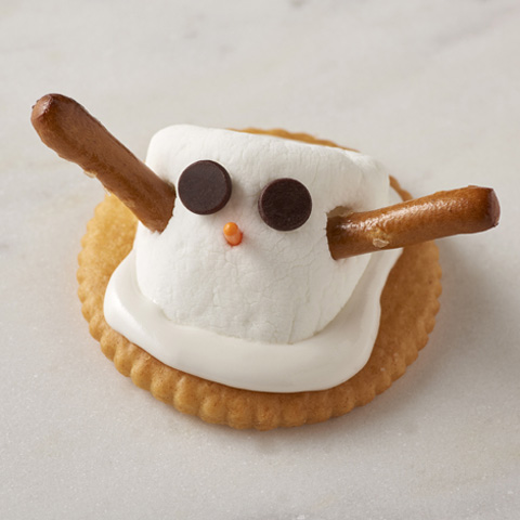 RITZ Marshmallow Snowmen Recipe