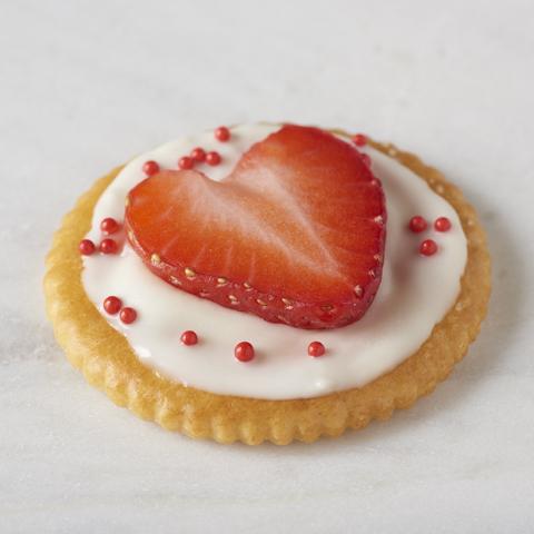Cœurs de fraise RITZ recette
