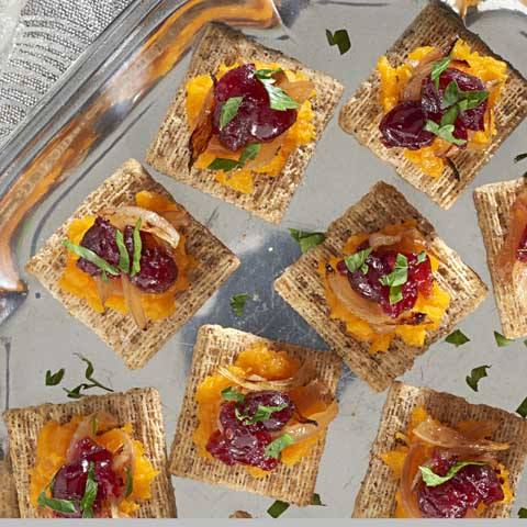 Butternut Squash, Caramelized Onion & Cranberry Toppers Recipe