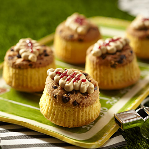 CHIPS AHOY! PB & J Football Cupcakes Recipe