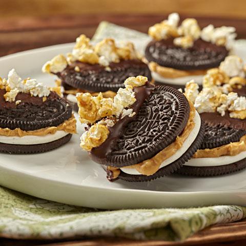 PB & Caramel Popcorn-OREO Bites Recipe