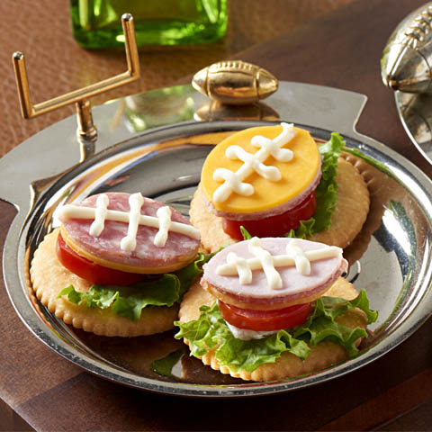 RITZ Hoagie Football Toppers Recipe