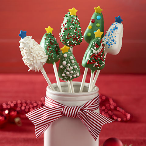 Holiday Tree OREO Cookie Pops Recipe