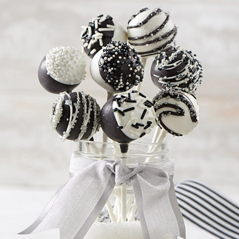 Black-and-White Golden OREO Cookie Pops Recipe