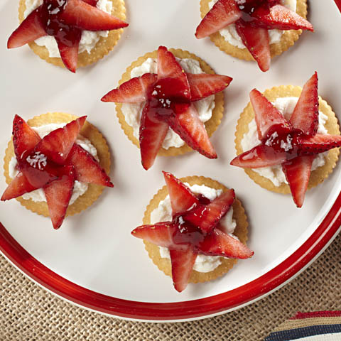 RITZ Patriotic Strawberry Stars Recipe