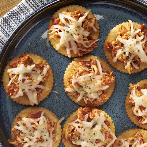 RITZ Shredded Chicken Parm Toppers Recipe