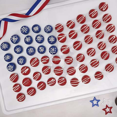 American Flag OREO Cookie Balls Recipe