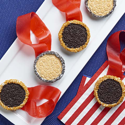 Gold & Silver OREO Cookie Medals Recipe