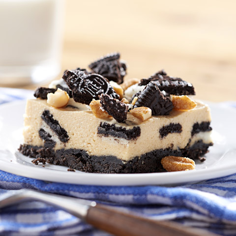 "OREO 'n Peanut Butter ""Cookie Dough"" Cheesecake Recipe"